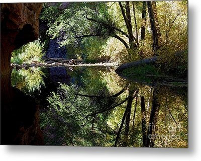 Metal Print featuring the photograph Mirror Reflection by Tam Ryan