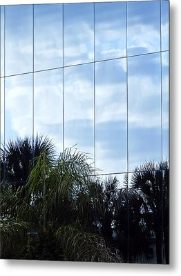 Mirrored Facade 1 Metal Print by Stuart Brown