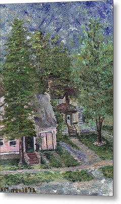Metal Print featuring the painting Misfit Summerhome by Denny Morreale