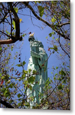 Metal Print featuring the photograph Miss Liberty by Paul Mashburn