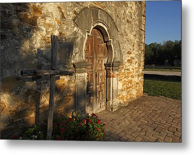 Metal Print featuring the photograph Mission Espada by Susan Rovira