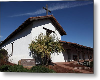 Mission Francisco Solano - Downtown Sonoma California - 5d19298 Metal Print by Wingsdomain Art and Photography