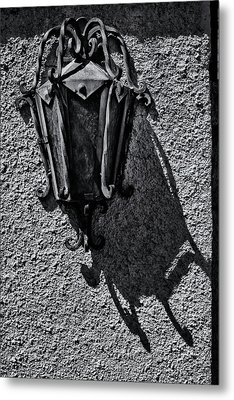 Metal Print featuring the photograph Mission Lamp by Tom Singleton