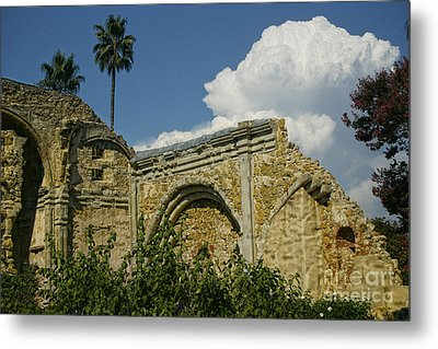 Mission Ruins Metal Print by Diana Cox