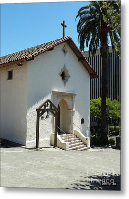 Mission San Rafael Arcangel Chapel Metal Print by Methune Hively
