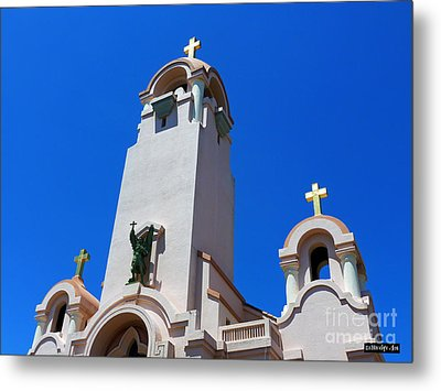 Mission San Rafael Arcangel Metal Print by Methune Hively