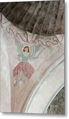 Mission San Xavier Del Bac - Painting Detail Metal Print by Suzanne Gaff