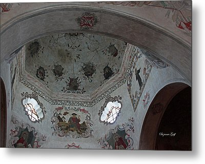 Mission San Xavier Del Bac - Vaulted Ceiling Detail Metal Print by Suzanne Gaff