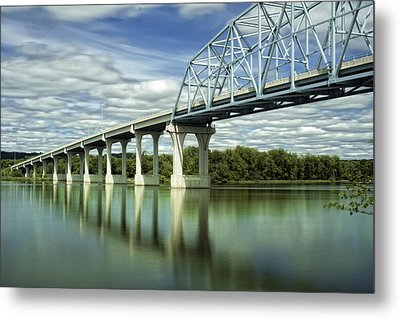 Metal Print featuring the photograph Mississippi River At Wabasha Minnesota by Tom Gort