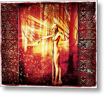 Metal Print featuring the photograph Mistress Of The Forest 2 by Mary Morawska