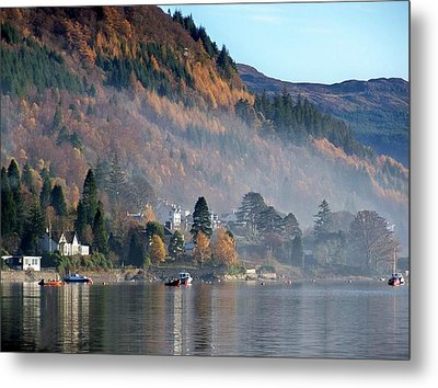 Metal Print featuring the photograph Misty Autumn Morning by Lynn Bolt