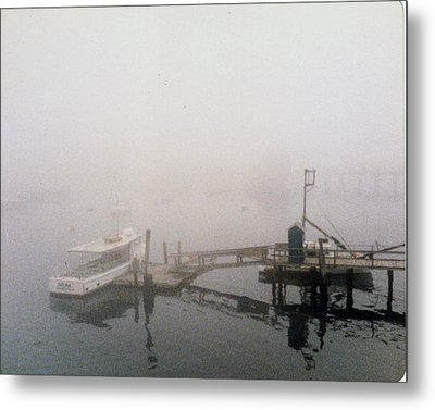 Misty Harbor Rye Beach Metal Print by Anthony Ross