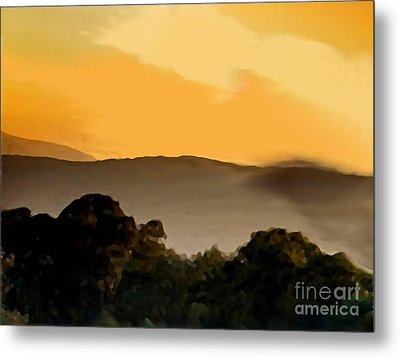 Misty Horizon Metal Print