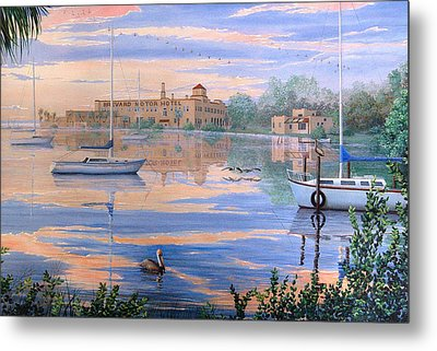 Metal Print featuring the painting Misty Morn by AnnaJo Vahle