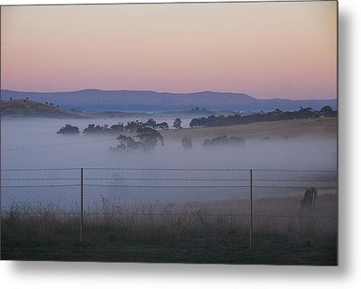 Misty Morning In The Country 1 Metal Print