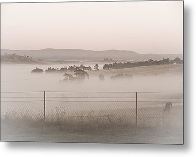 Misty Morning In The Country 2 Metal Print