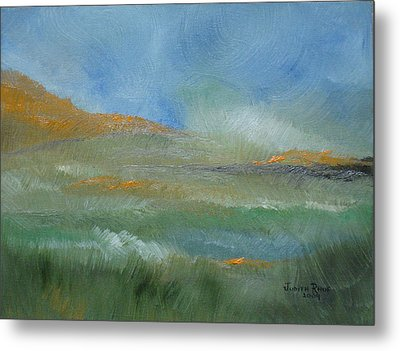 Metal Print featuring the painting Misty Morning by Judith Rhue