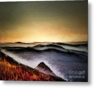 Misty Sunrise Metal Print by Arne Hansen