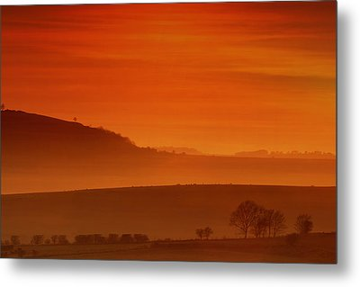 Misty Sunset Metal Print by Mark Leader