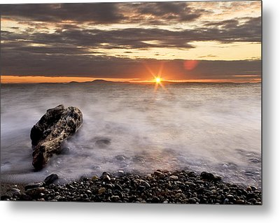 Misty Sunset Metal Print by Tony Locke