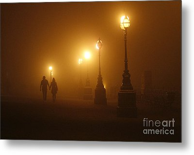 Misty Walk Metal Print by Urban Shooters