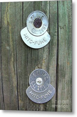 Metal Print featuring the photograph Mitc Fume Tags On Light Pole by Renee Trenholm