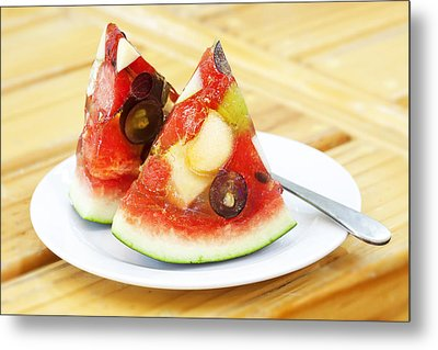 Mixed Fruit Watermelon Metal Print by Anek Suwannaphoom