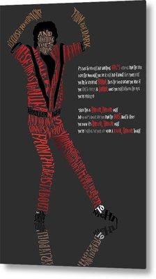 Mj_typography Metal Print by Mike  Haslam