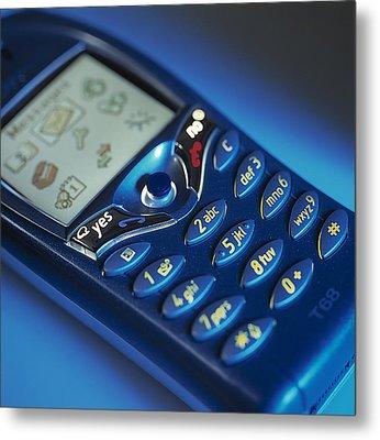 Mobile Phone Metal Print by Tek Image