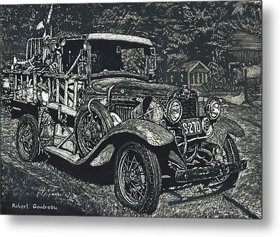 Model A Ford Metal Print by Robert Goudreau