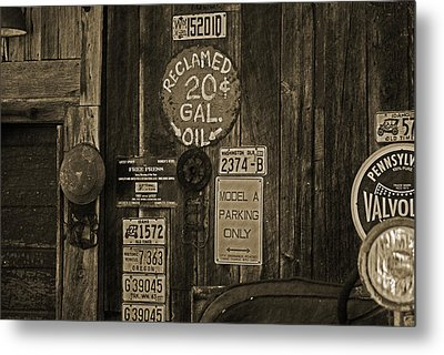 Model A Parking Metal Print by Terrie Taylor