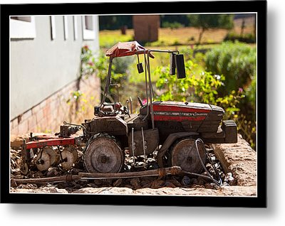 Model Tractor Metal Print by Miguel Capelo