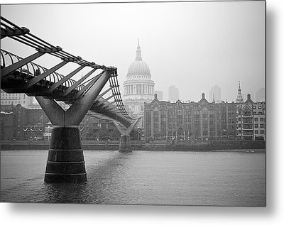 Metal Print featuring the photograph Modern And Traditional London by Lenny Carter
