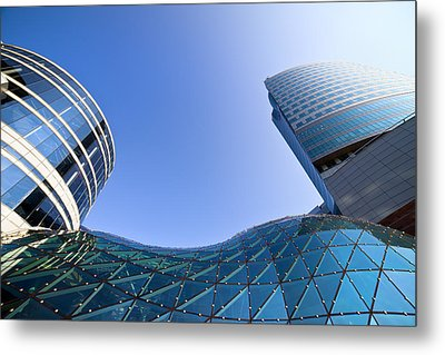 Modern Architecture In Downtown Metal Print by Artur Bogacki