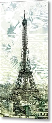 Modern-art Eiffel Tower 12 Metal Print