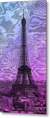 Modern-art Eiffel Tower 14 Metal Print