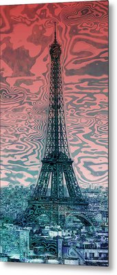 Modern-art Eiffel Tower 17 Metal Print