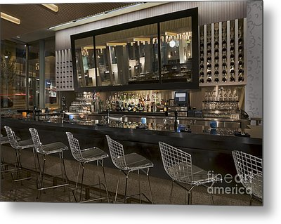 Modern Bar Metal Print by Robert Pisano