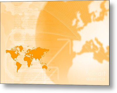 Modern Technology And Globalization Metal Print by Andre Babiak