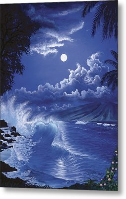 Molokai Moonlight Metal Print
