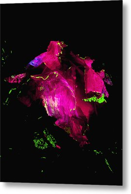 Molten Ice - Pink Metal Print by Colleen Cannon