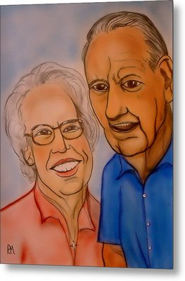 Mom And Dad Metal Print by Pete Maier