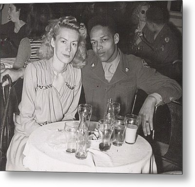 Metal Print featuring the photograph Momma And Daddy In 1949 by Alga Washington