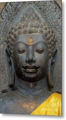 Mon Stone Buddha Head - Thailand Metal Print by Craig Lovell