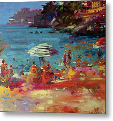 Monaco Coast Metal Print by Peter Graham