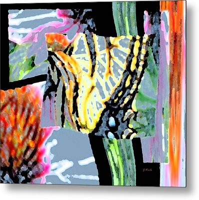 Monarch In Tall Grasses Metal Print