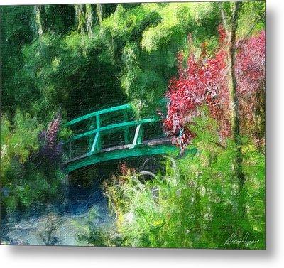 Monet's Garden Metal Print by Diana Haronis