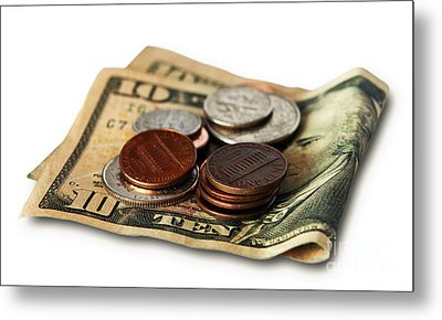 Money Metal Print by Blink Images