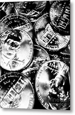 Money Metal Print by Ronnie Glover