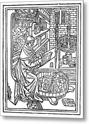 Monk: Scribe, 1488-89 Metal Print by Granger